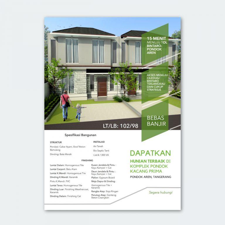 minimalist house flyer pondok kacang