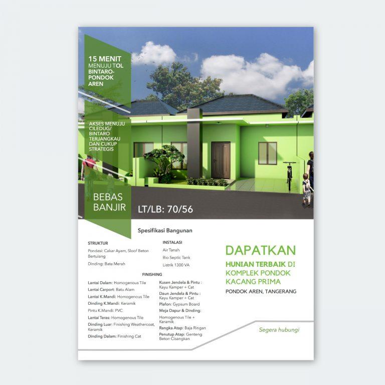 minimalist house flyer design at pondok kacang
