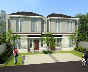 architecture minimalist house at pondok kacang