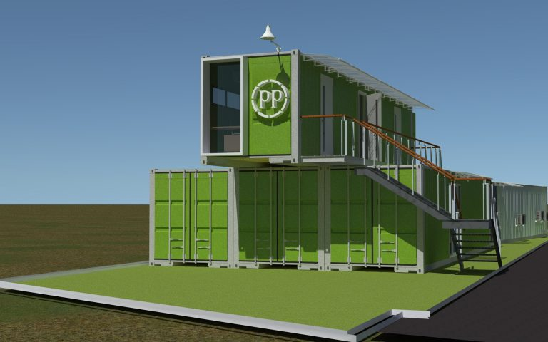 Architecture container temporary office PT PP
