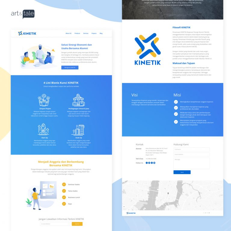 web design for KINETIK